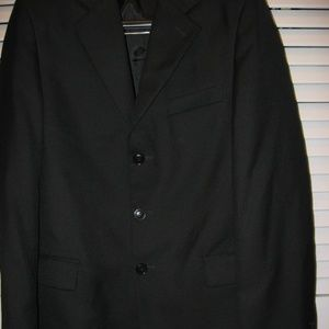 Boys Calvin Klein DARK Navy Blue Suit Size 16 slim